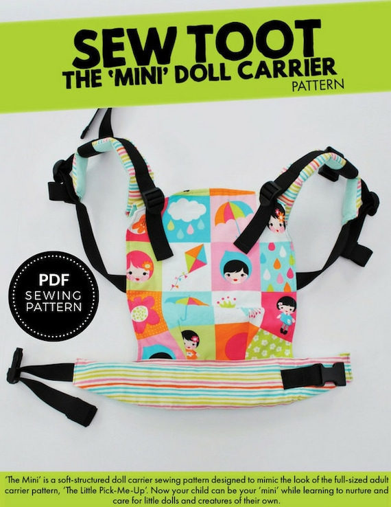 Doll Carrier Pattern The Mini by Sew Toot Digital PDF | Etsy