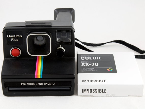 Vintage Polaroid OneStep SX-70 Black Rainbow Stripe Instant   Etsy c8867fb552