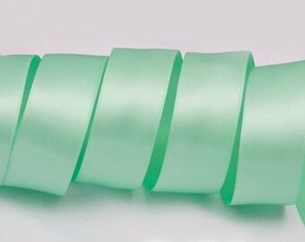 """Aqua Blue / Tiffany Blue Ribbon, Double Faced Satin Ribbon, Widths Available: 1 1/2"""", 1"""", 6/8"""", 5/8"""", 3/8"""", 1/4"""", 1/8"""""""