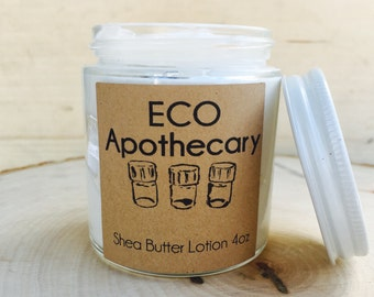 4 oz. Shea Butter Lotion. Organic, Sulfate and Paraben-Free. Mix and match your own scent!