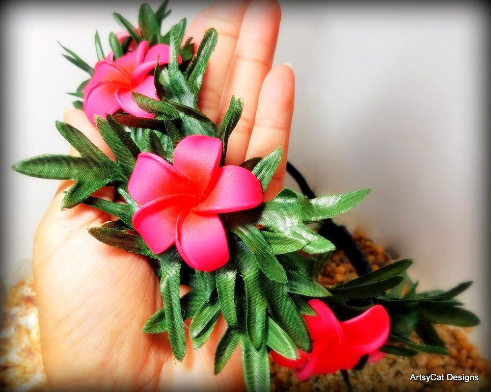 Moana Flower Crown Moana Headband Moana Headpiece Pink Plumeria