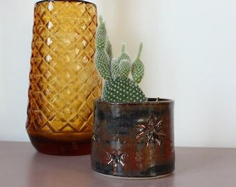 Cosmic Stars Small Ceramic Planter - Stoneware