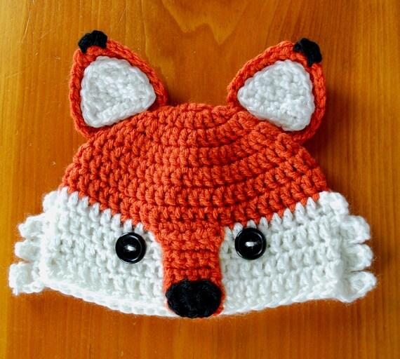 Fox Hat Crochet Fox Hat Newborn to Adult sizes available  09c6e1fef5cd