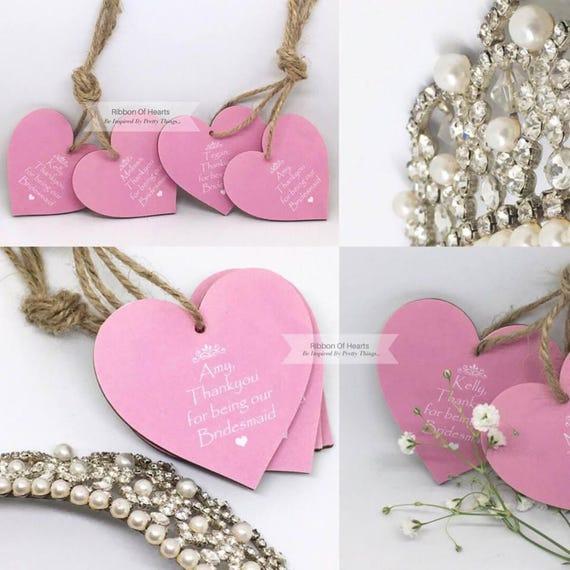 thank you keepsake Personalised Maid of Honour /& Bridesmaid Flower girl gift