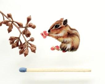Chipmunk Brooch, Animal Jewelry, Woodland Animal, Brooch Pin, Woodland, Chipmunk Jewelry,  Animal Lover Gift, animal brooch, cute brooch