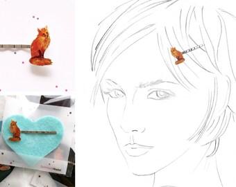 drawn fox hairpin