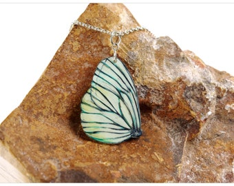 butterfly necklace with white butterfly pendant