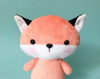 Fox plush toy - Kawaii plush toy - Baby fox toy  - Fox softie - Kawaii fox - fox plushie