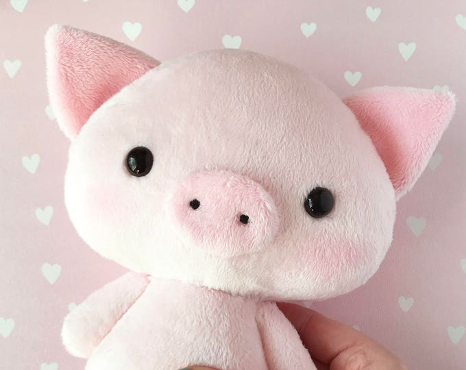 Pig Piggie,Piggy,Boy OR Girl Stuffed Pig,Plush Pig  Personalized,Stuffed Animal Brother,Sister Sibling Birth Announcement