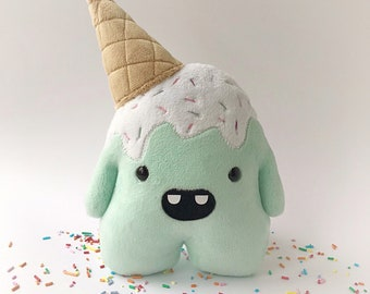 Whoops the clumsy ice cream monster - Mint green - ready to ship