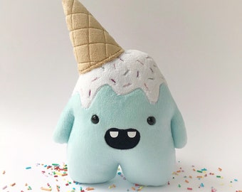 Whoops the clumsy ice cream monster - Aqua - ready to ship