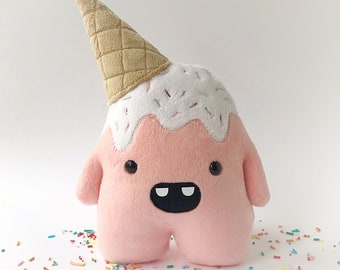 Whoops the clumsy ice cream monster - Pink - ready to ship