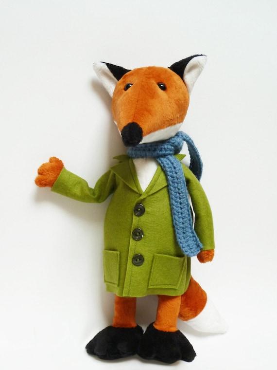 Stuffed Fox Toy Plush Fox Toy Handmade Fox Toy Handmade Etsy