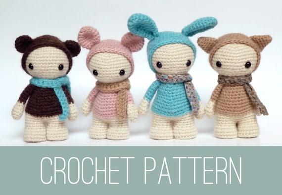 Amigurumi Doll Crochet Pattern Crochet Dolls Pattern Etsy