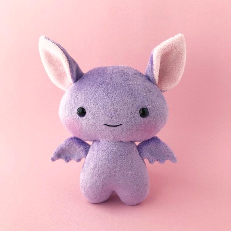 Bat plush toy  Cute stuffed bat  Purple bat   Bat softie  image 0