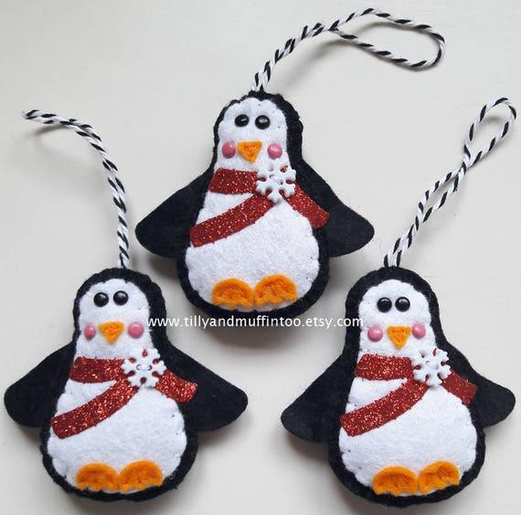 Craft Supplies Brand New Glitter Penguin Embellishments
