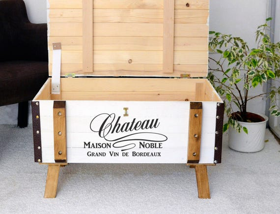 purchase cheap f433a ad6c6 Wooden Chest Trunk Rustic vintage Storage Blanket Box Coffee Table