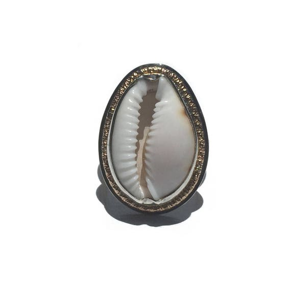 cowrie shell sunshine ring, made to order