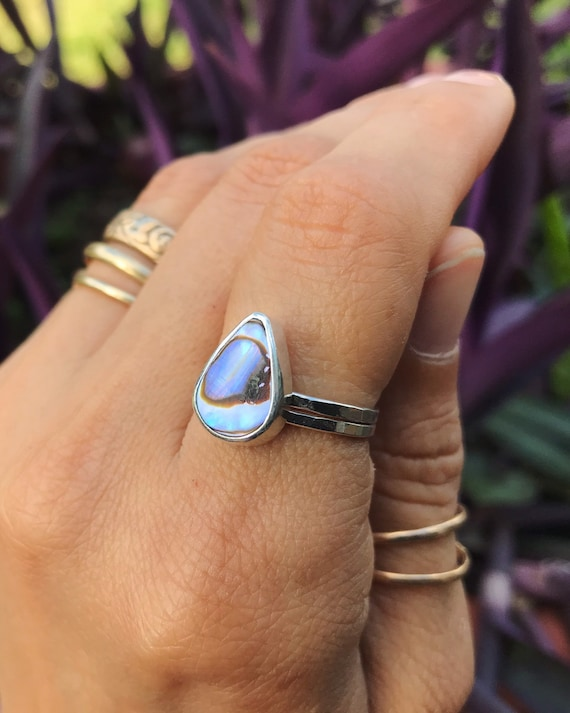 abalone stacking ring, size 6 1/2