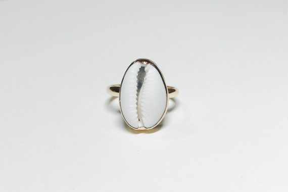 classic gold cowrie shell ring, made to order