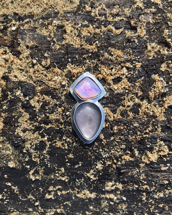 sea glass pairing with opal - custom ring / cuff / pendant
