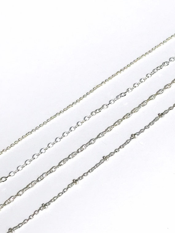 custom chain necklace in sterling silver or 14k gold fill