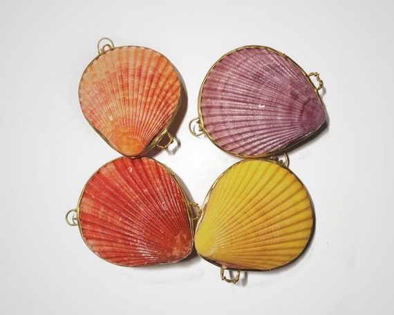 scallop shell mermaid coin purse with jewelry polishing cloth, gift box, pill box, bridesmaid gift