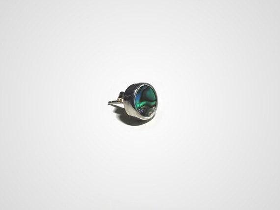 single abalone shell stud earring