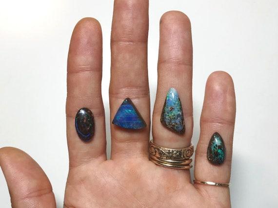 custom Australian boulder opal ring, made to order