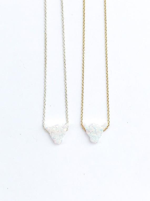 shaka opal charm necklace