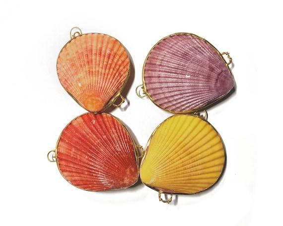 scallop shell mermaid coin purse with jewelry polishing cloth, gift box, pill box, bridesmaid gift