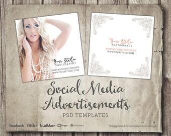 facebook marketing ad template photography marketing etsy