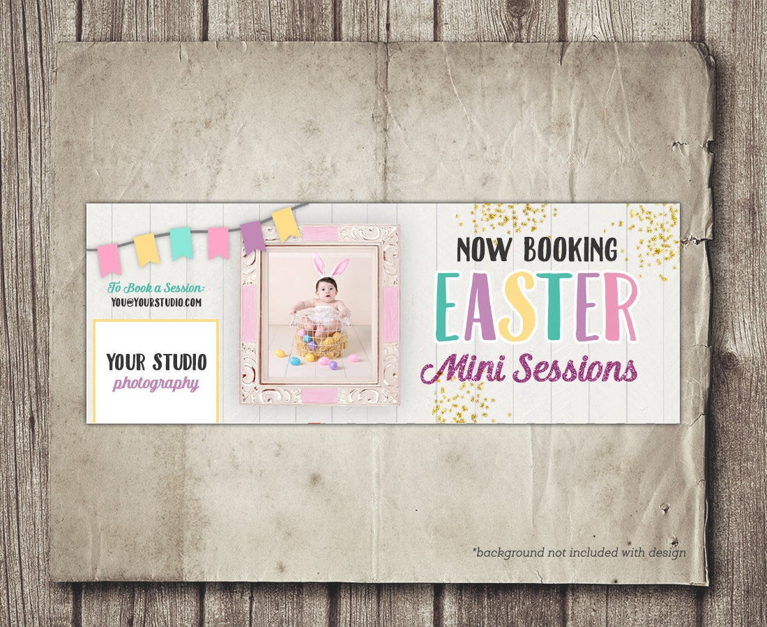 Easter Facebook Cover Template Photography Facebook Cover Etsy