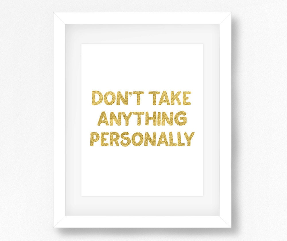 The Four Agreements Dont Take Anything Personally 4 Etsy