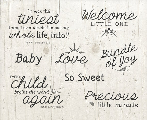 8 word overlays baby newborn phrases photo overlay text etsy