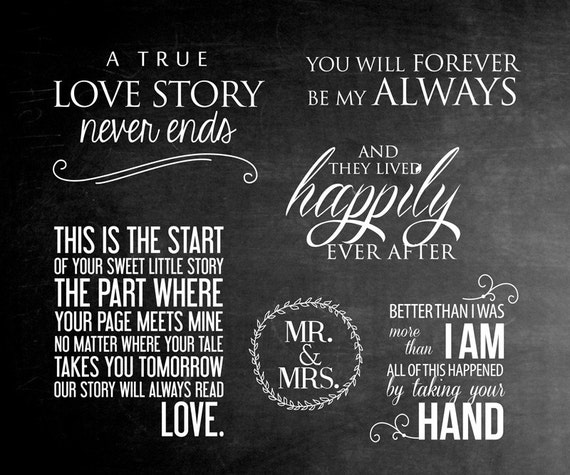 6 Word Overlays Love Wedding Phrases Photo Overlay Text | Etsy