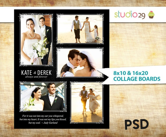 Wedding collage blog board 16x20 and 8x10 print posters psd etsy image 0 maxwellsz