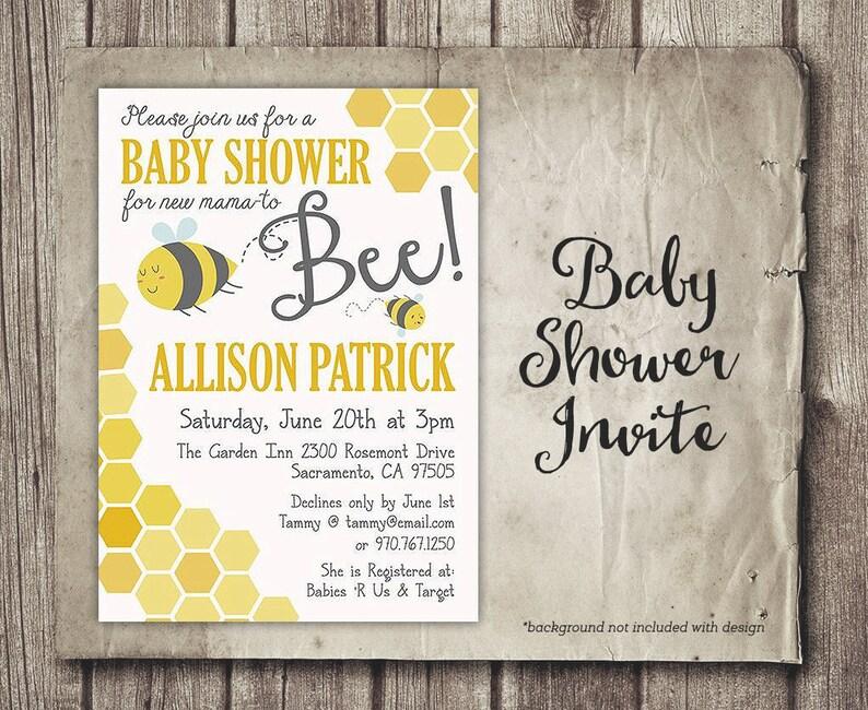Mommy To Bee Baby Shower Invitation Digital Baby Shower Etsy