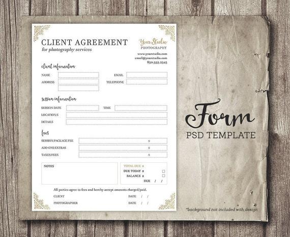 Client-Formular für Fotografen Fotografie Business Forms | Etsy