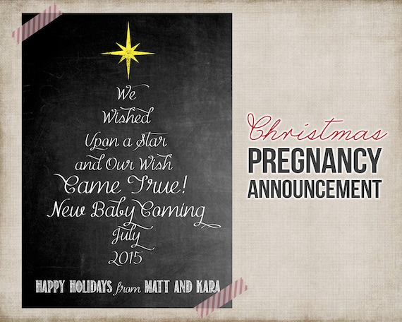 graphic regarding Free Printable Pregnancy Announcement Cards identify Xmas Being pregnant Announcement - Printable Card Signal - Xmas Need On a Star Being pregnant Announcement - Electronic - Cost-free Personalization