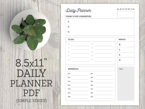 daily planner printable to do checklist organization etsy