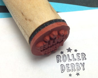 ROLLER DERBY Rubber Stamp
