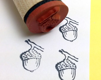 Acorn Rubber Stamp