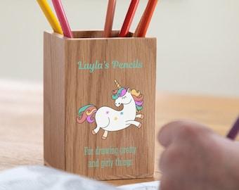 Personalised Safari Animals Kids Children/'s Pen Pencil Pot Case Holder