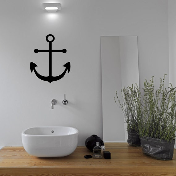 anchor bathroom wall sticker anchor wall decal bathroom wall | etsy