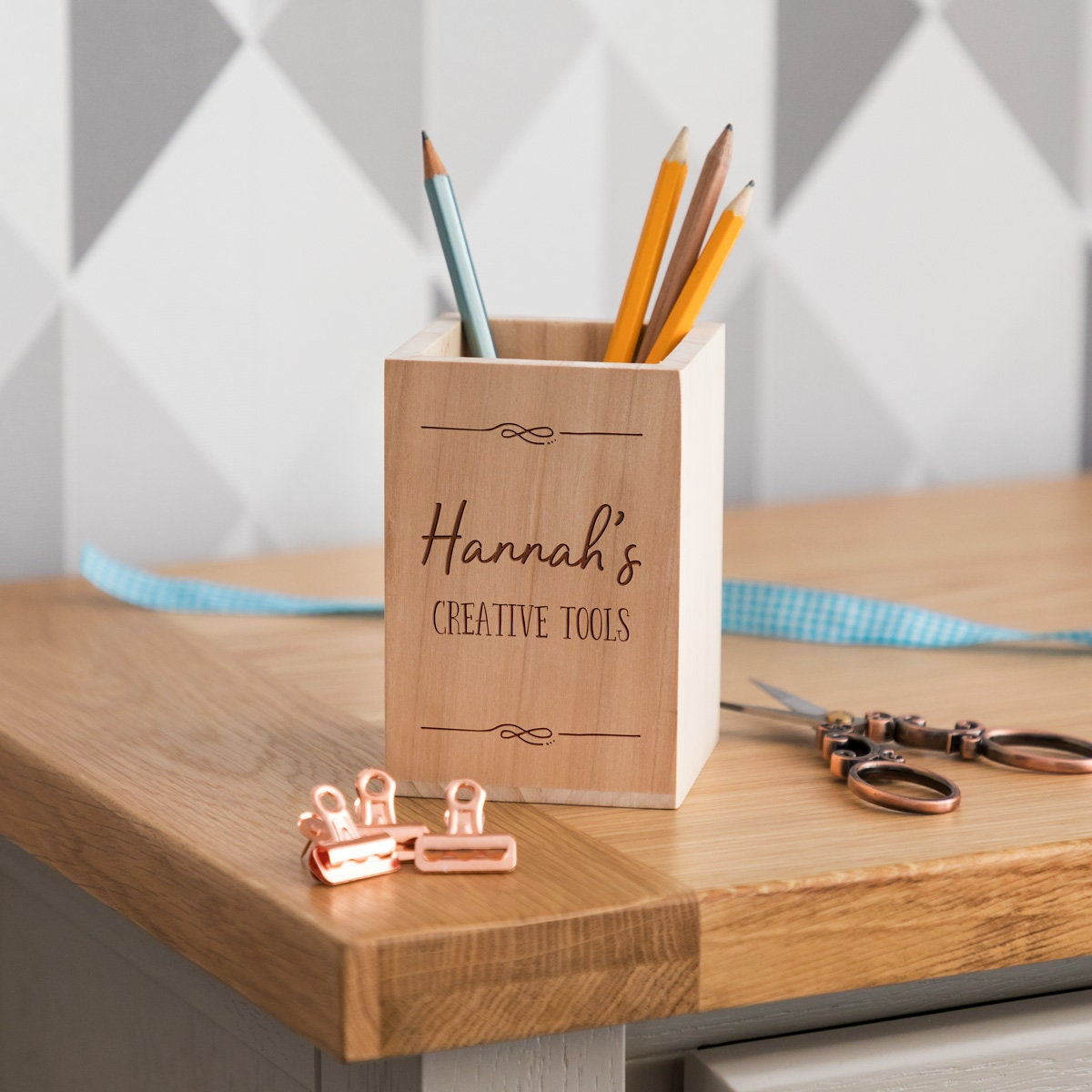 Stifthalter kreativ-Tools personalisierte Holzstift Topf   Etsy
