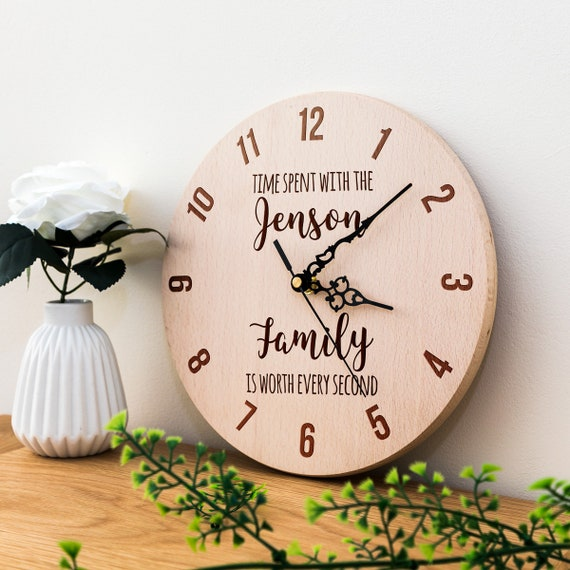 Personalised Wood Clock