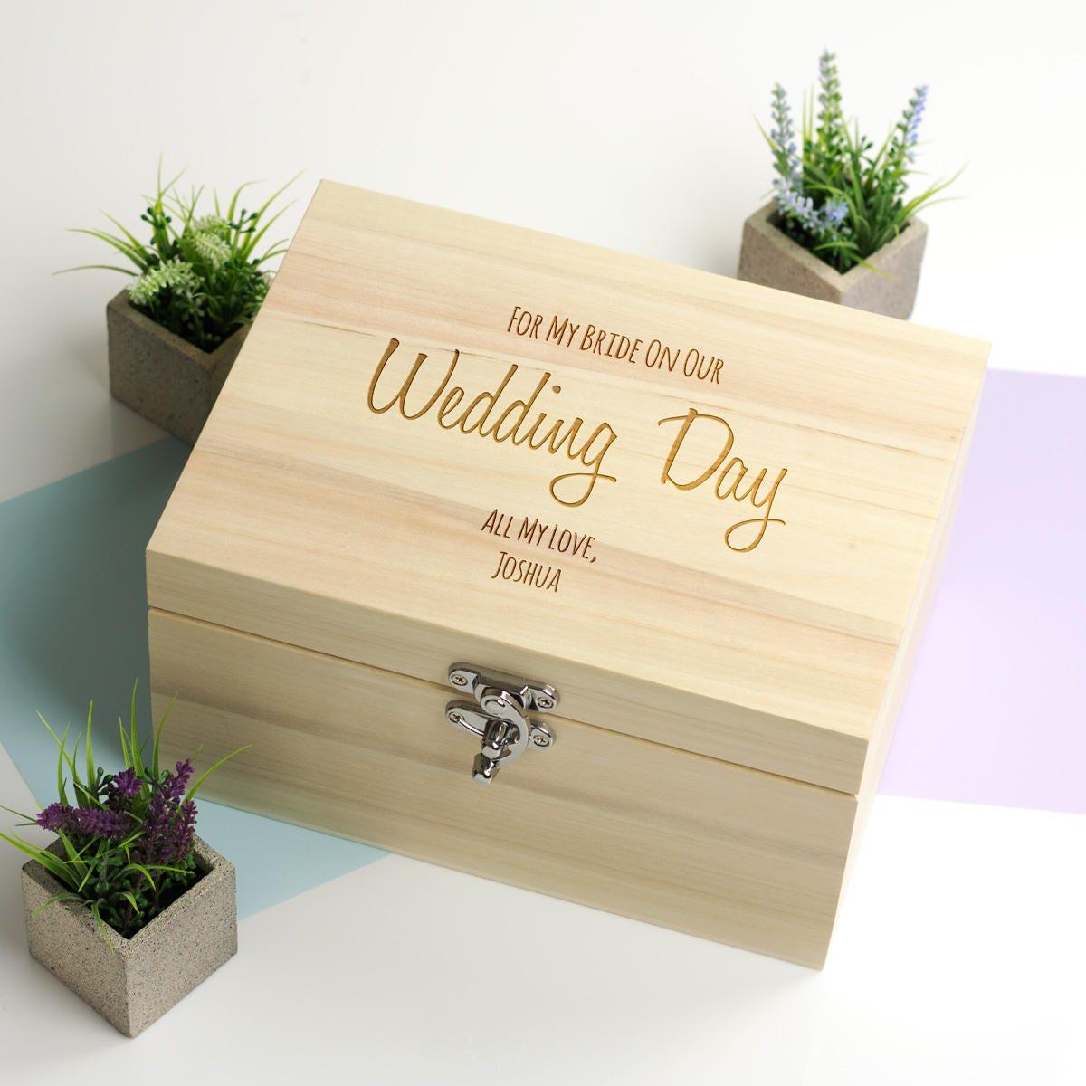 Wedding Gift For My Groom: Wedding Keepsake Box For My Bride Or Groom Personalised