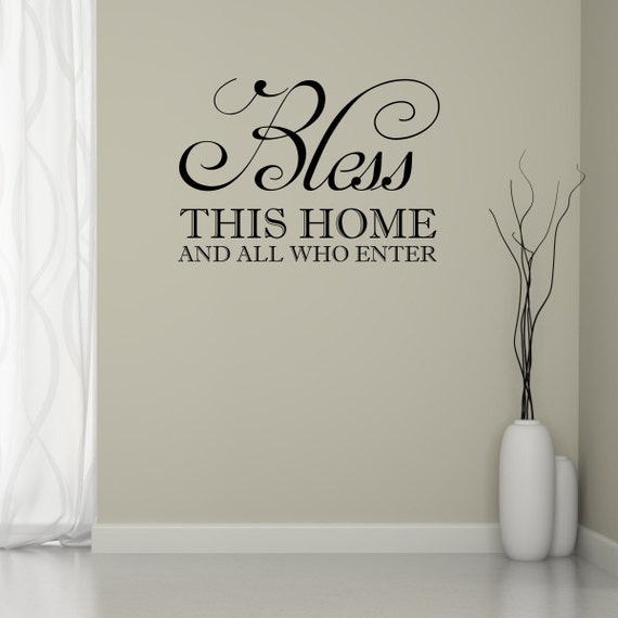 home wall art bless this home quote wall decal hallway