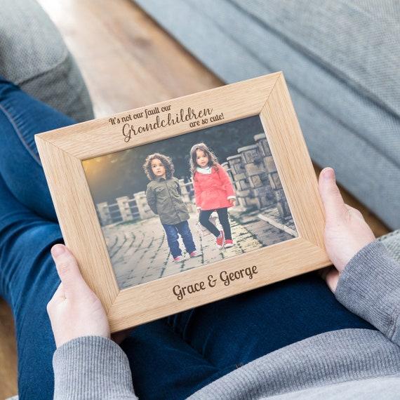 Parrains en bois Cadre photo 5x7-personnaliser ce cadre-Gravure Gratuit